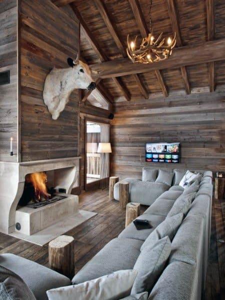 Log Cabin Wood Ceiling Idea Inspiration