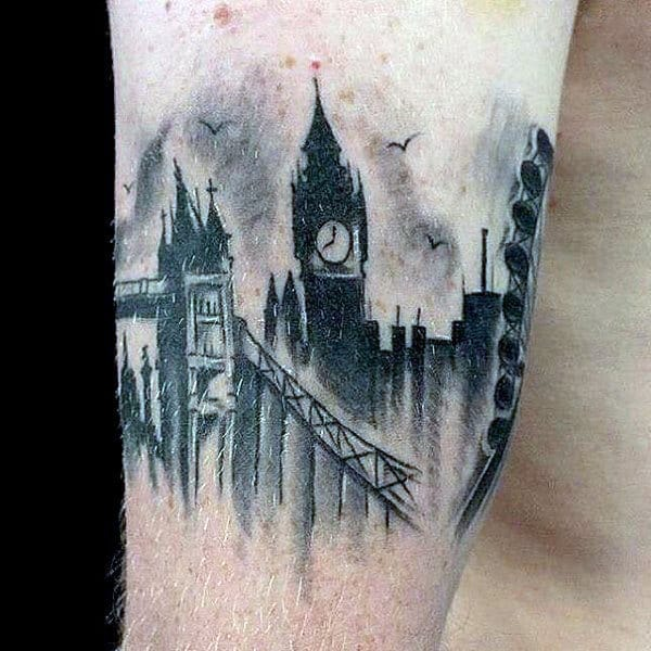 London City Skyline Getlemens Tattoo Armbands