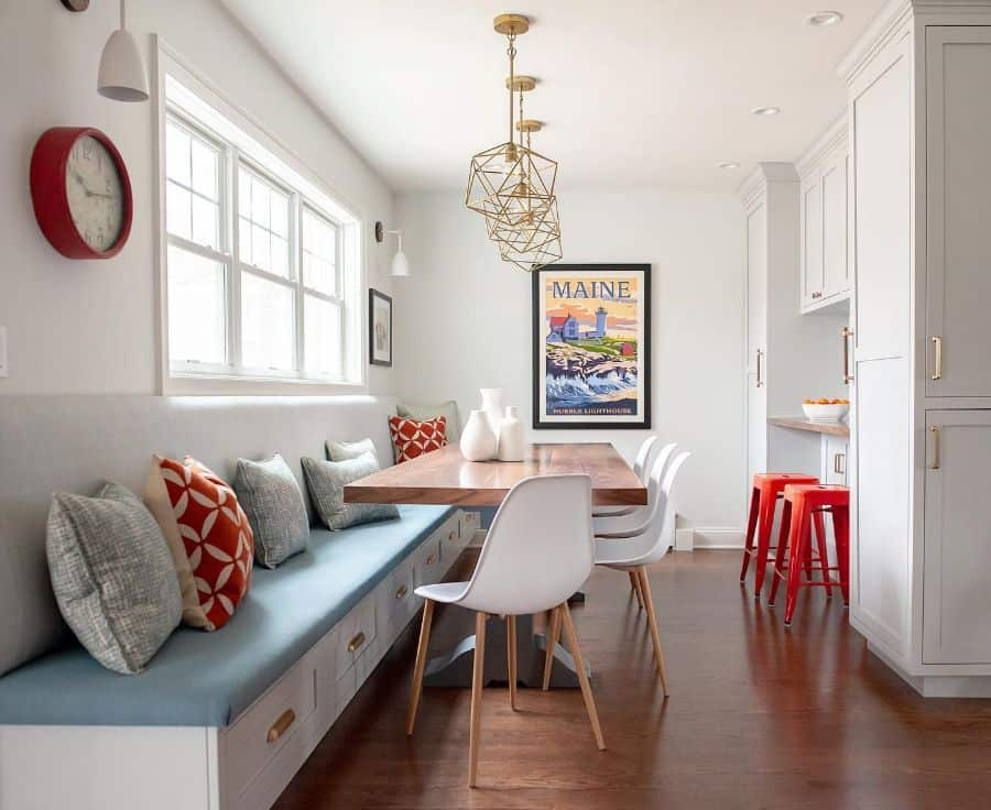 Long Banquette Seating Christyforandesign