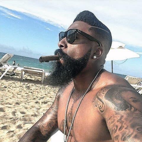 Long Beard Styles For Black Men