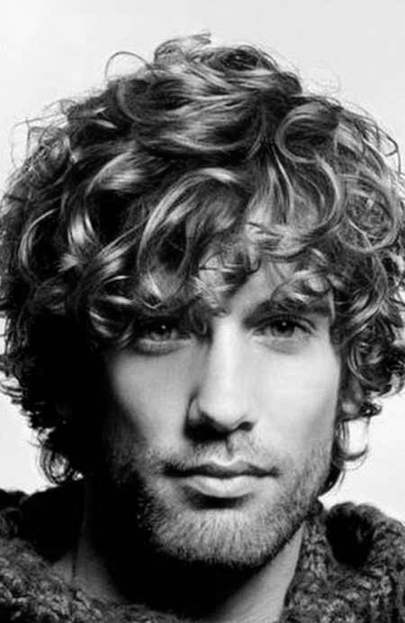 50 Long Curly Hairstyles For Men - Manly Tangled Up Cuts