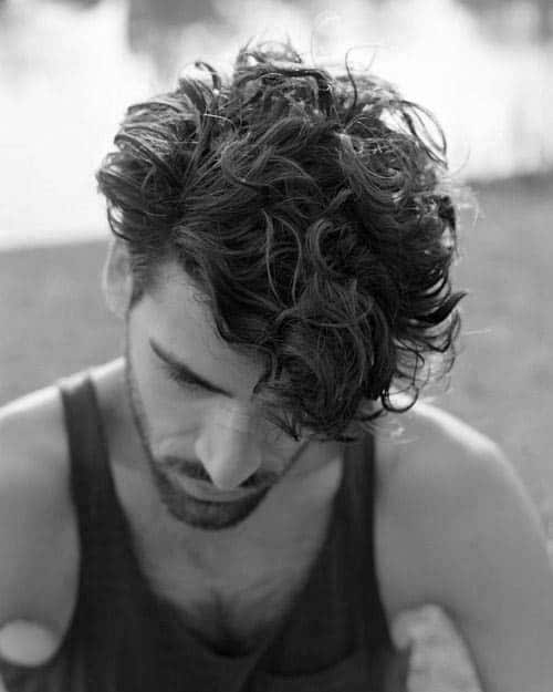 Long Curly Mens Hair Inspiration