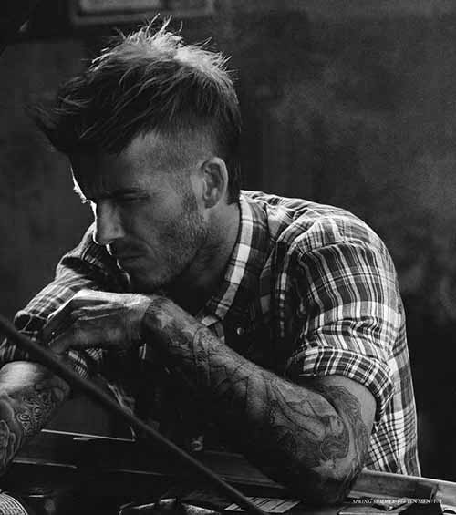 Long Hair Mohawk Men