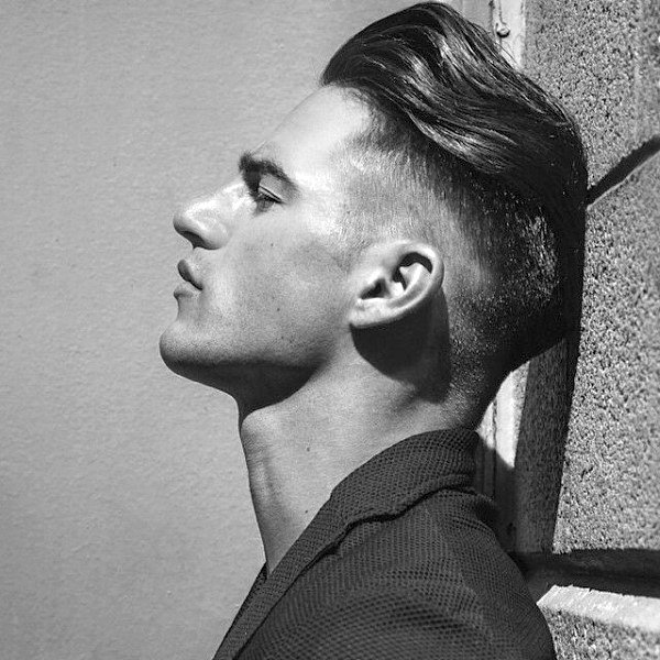 Long Hair Undercut Men With Shaved Sides