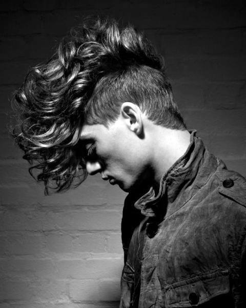 Long Length Curly Fade Haircut Undercut