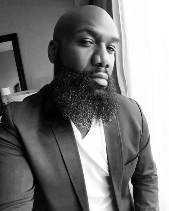 Long Length Full Beard Style Inspiration For Black Males
