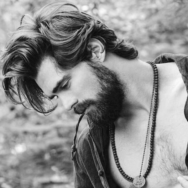 Long Manly Hipster Men Hairstyles