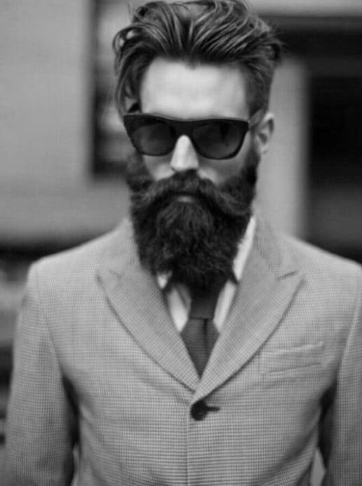 Long Medium Slicked Back Hair For Guys