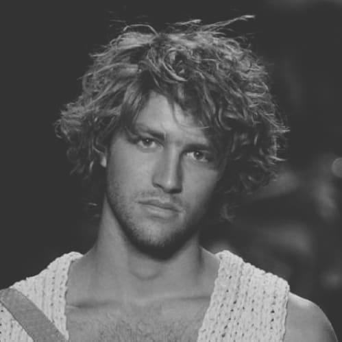 Long Men's Curly Hair