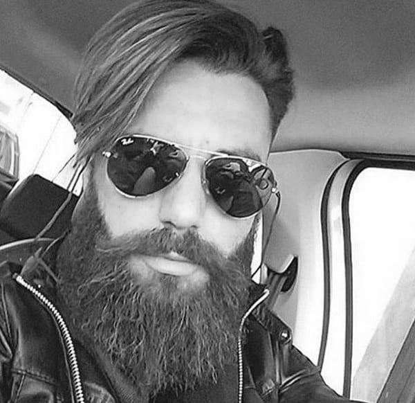 Long Trendy Hair For Gentlemen With Beards