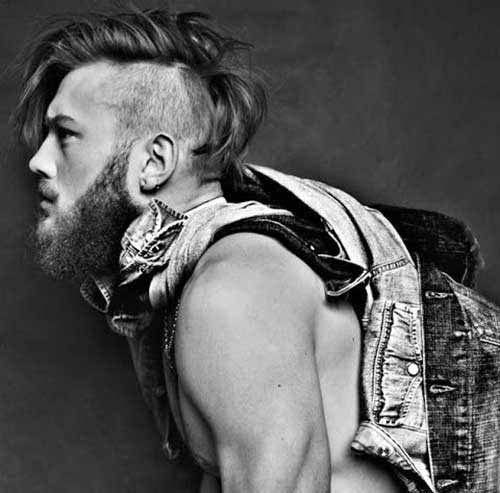 Long Undercut Mohawk Hairstyles For Men