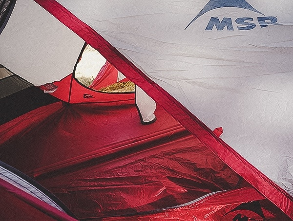 Look Through Interior Second Door Msr Hubba Tour 3 Tent Review