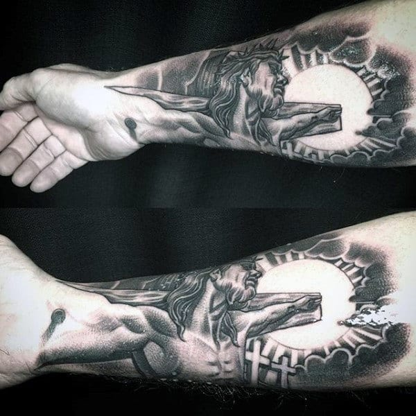 Lord Of Lords Religious Tattoo Male Forearms