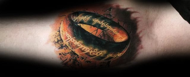 50 Lord Of The Rings Tattoo Designs For Men – Tolkien Ink Ideas