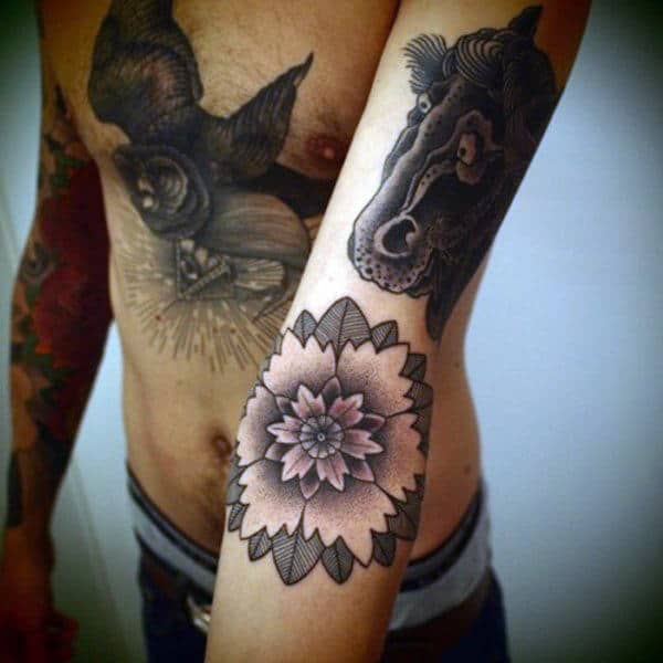 Lotus Flower Tattoo Design Inspiration For Men