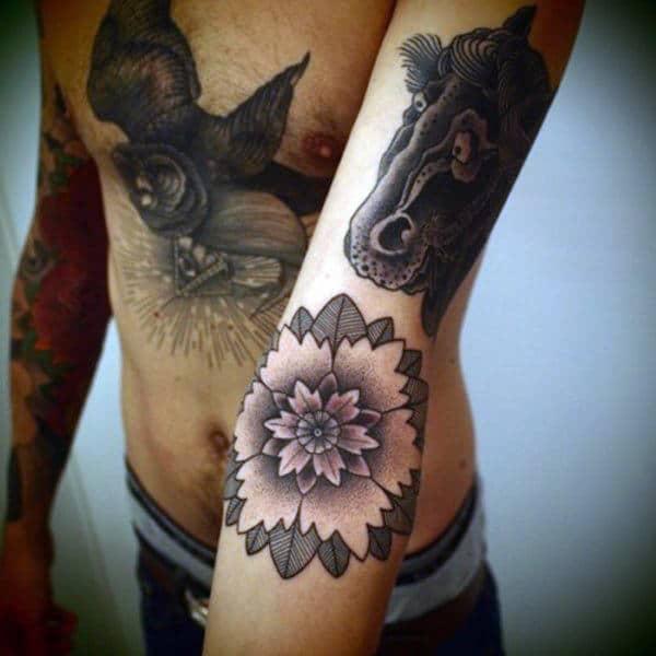 Lotus Flower Tattoo Design Inspiration For Men