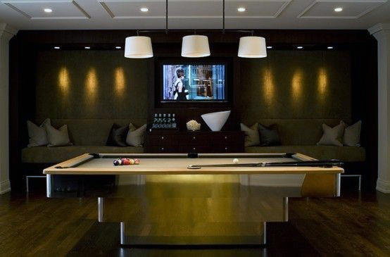 Lounge Game Room Pool Table Ideas For Gentlemen