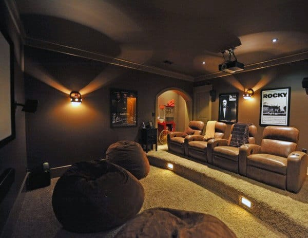 Lounge Home Theater With Bean Bag Seating