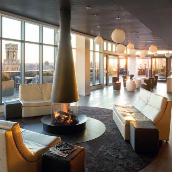 Lounge Modern Fireplace Design Inspiration