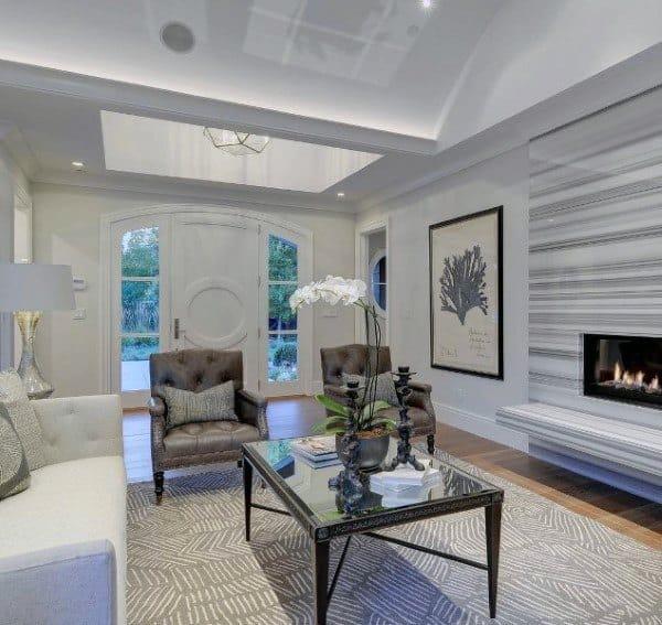 Lounge Seating Modern Fireplace Design