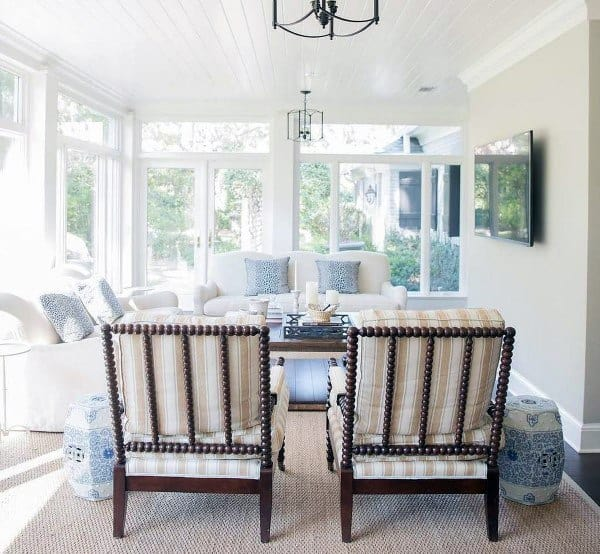 Lounge White Traditional Sunroom Ideas