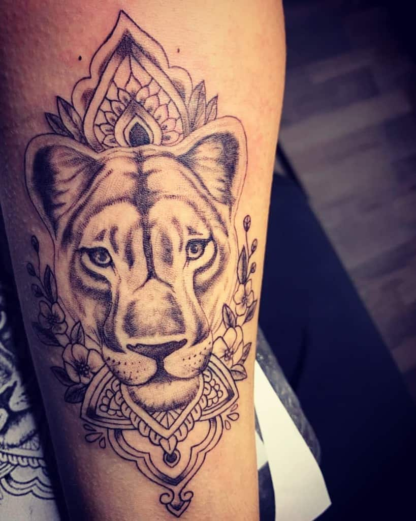 Love Second But Not Last One Lioness Tattoo