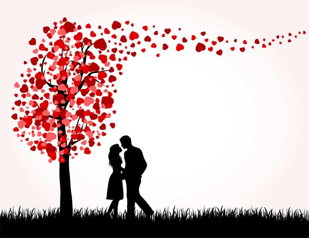 love tree hearts