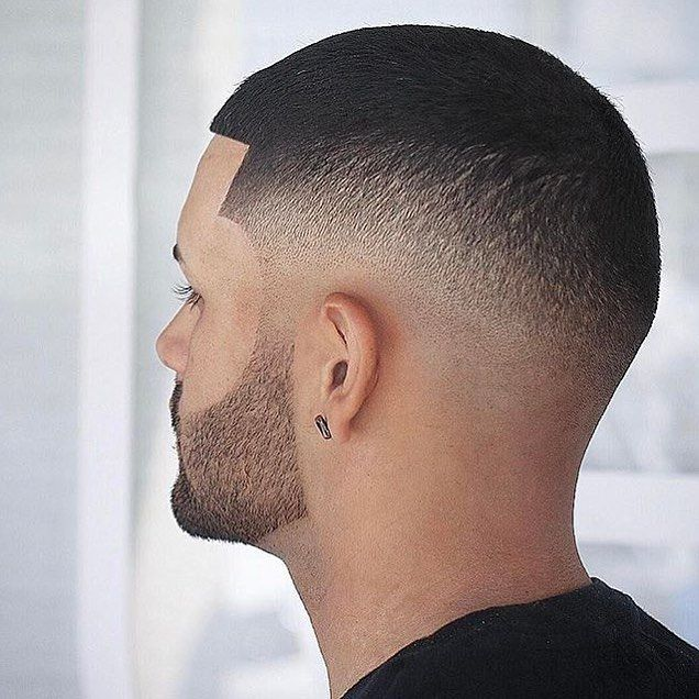 Hardly noticeable fade with medium length hair on top