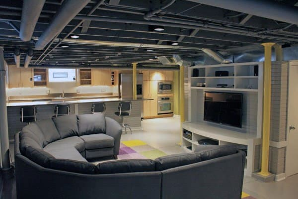 top 60 best basement ceiling ideas downstairs finishing designs. Black Bedroom Furniture Sets. Home Design Ideas