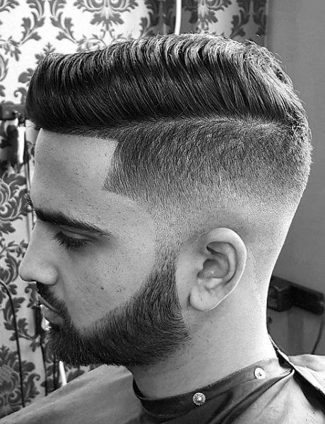 Low Fade Comb Over Haircut For Men