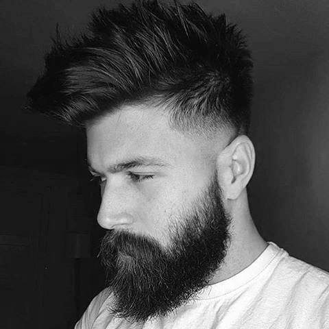 Low Fade Medium Hair Style For Gentlemen