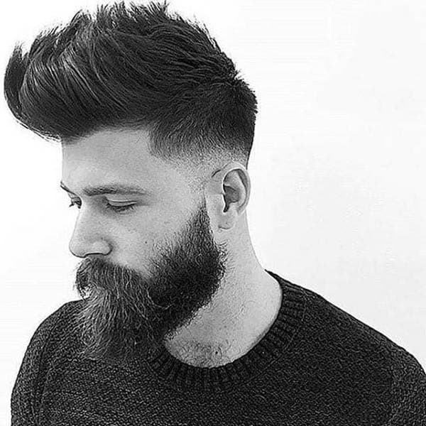 Medium Length Thick Hair Fade Hairstyles For Men 17