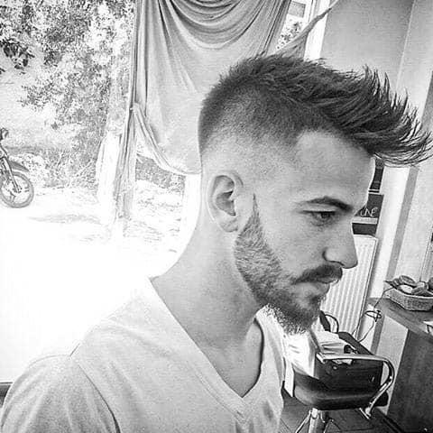 Low Fade Mohawk Haircut For Men