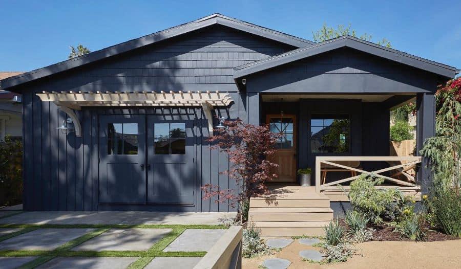 Low Pitch Gable Roof Modern Farmhouse Exterior Allprace