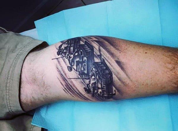 Lower Calf Tattoo For Men