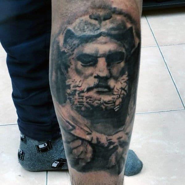 Lower Leg Hercules Tattoos On Males