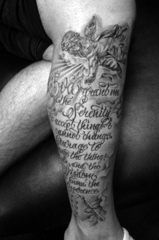 50 serenity prayer tattoo designs for men uplifting ideas. Black Bedroom Furniture Sets. Home Design Ideas