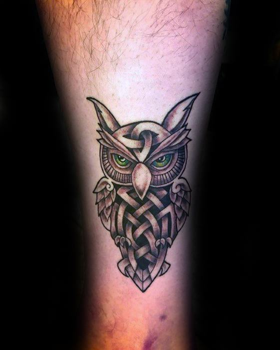 30 celtic owl tattoo designs for men knot ink ideas. Black Bedroom Furniture Sets. Home Design Ideas