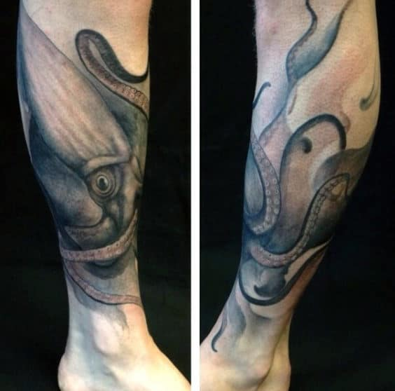100 squid tattoo designs for men manly tentacled skin art