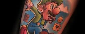 40 Luigi Tattoo Ideas For Men – Mario Bros Designs