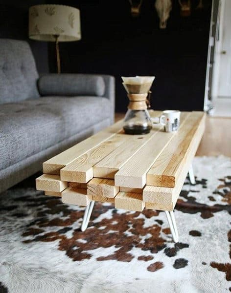 Lumber Man Cave Decor Coffee Table Diy