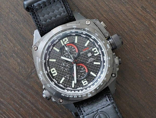 Luminous Quartz Chronograph Movement Mtm Special Ops Cobra Watch For Men