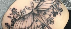 Top 45 Best Luna Moth Tattoo Ideas – [2020 Inspiration Guide]