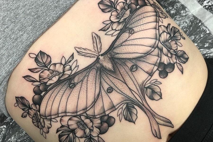 Top 45 Best Luna Moth Tattoo Ideas – [2020 Inspiration Guide]