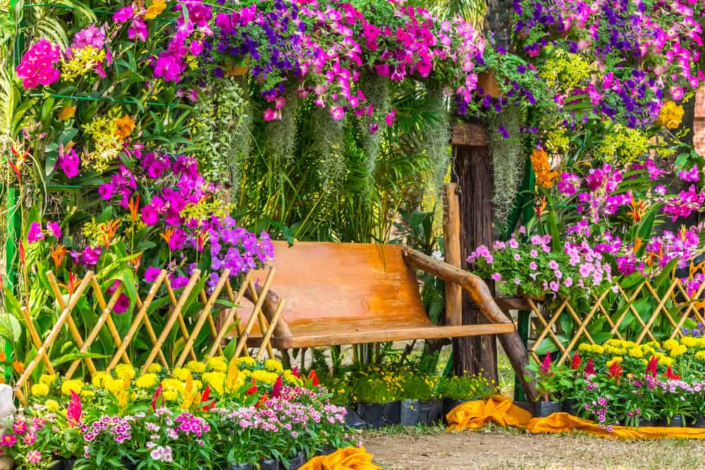 lush garden flower garden ideas 1