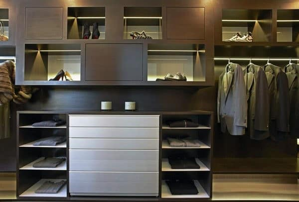 Luxurious Male Walk In Closets