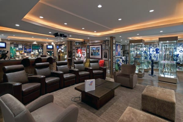 Luxury Basement Man Cave Design Ideas