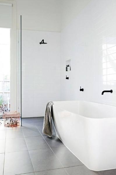 Luxury Bathtub White Tile Ideas