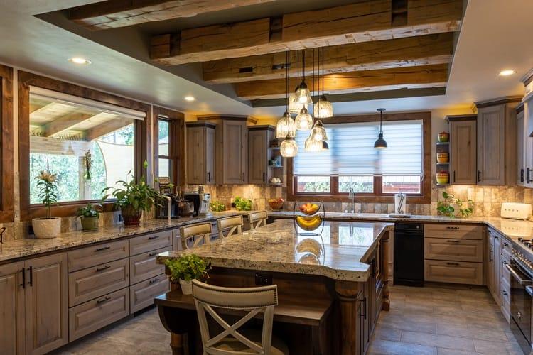 Luxury Beautiful Kitchen Beam Ceiling