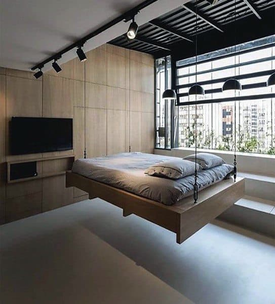 Luxury Bedroom Lighting Black Track Lights